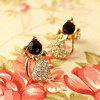 1 Pair  Women Lady Earring Elegant Crystal Rhinestone Ear Stud Earrings - SILVER