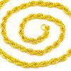 18k Gold Plated Fashion Mens Rolo Chain Necklace - GOLD