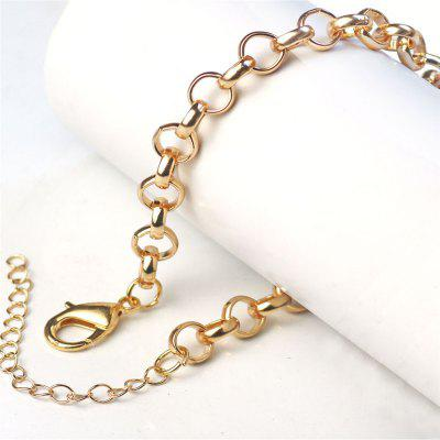 Stainless Steel Gold Round Rolo Chain Bracelet Bangle Fashion Womens Jewelry