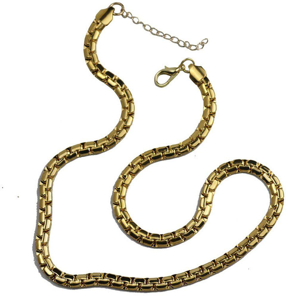 Gold Plated Fashion Mens Stainless Steel Chain necklace Jewelry