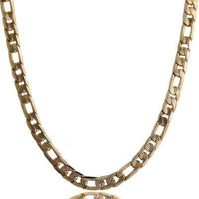Fashion Stainless Steel Mens Flat Figaro Chain Necklace Jewelry
