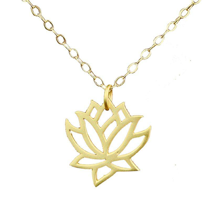 Hollow Lotus Pendant Female Clavicle Chain Accessories
