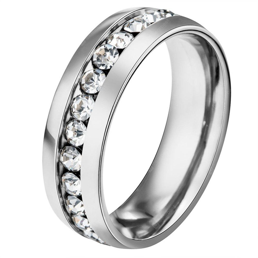 fashion style stainless steel Diamond mens ring finger jewelry