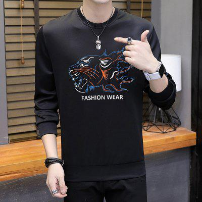 MenS Tiger Print Printing SweatershirtMens Hoodies &amp; Sweatshirts<br>MenS Tiger Print Printing Sweatershirt<br><br>Material: Polyester, Spandex<br>Package Contents: 1 x Sweatershirt<br>Shirt Length: Regular<br>Sleeve Length: Full<br>Style: Casual<br>Weight: 0.3000kg