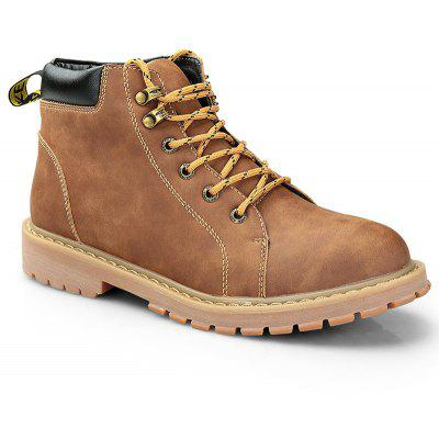New Autumn and Winter Retro Martin Boots Adicionar Algodão