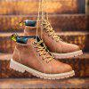New Autumn and Winter Retro Martin Boots Add Cotton - LIGHT BROWN