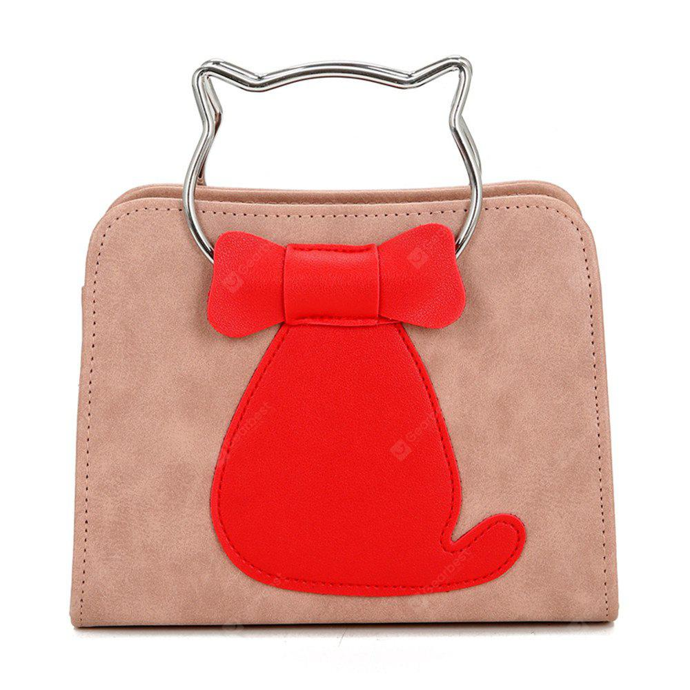 Buy 2017 New Female Bag Color Cat Small Package Korean Fashion Personality All-Match Single Shoulder Handbag PINK
