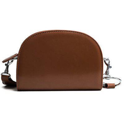 2017 New South Korean Female Bag Caramel Classic Half Saddle Bag Port Wind Bag Bag