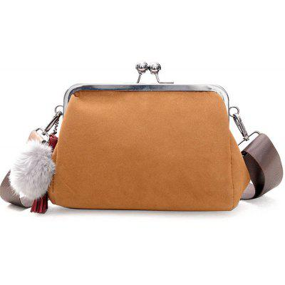 2017 New Winter Nubuck Leather Bag Korean Retro Nip Shoulder Fashion Casual Hair Ball Satchel Tide