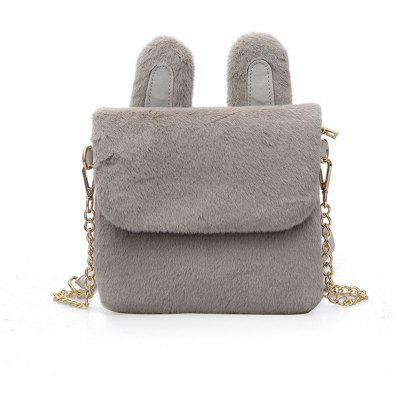2017 Winter Fur Bag Bag Korean Cute Female All-Match Plush Ear Bag Satchel
