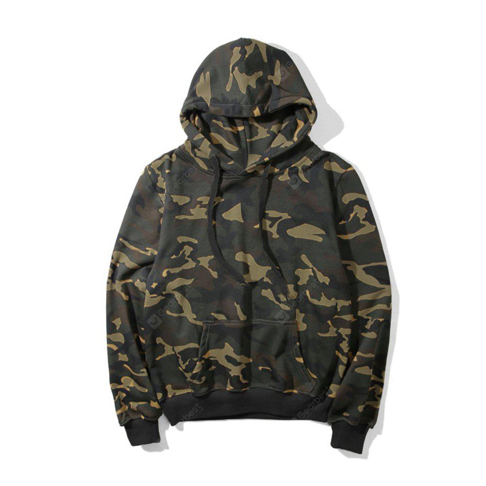 Plus Size Camouflage Hoodies Men'S Clothing