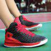 New Men'S Autumn and Winter Basketball Shoes - BLACK AND RED