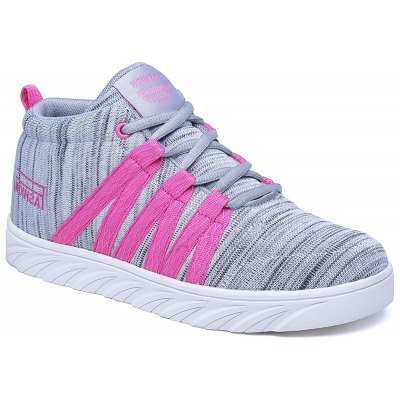 New Couple Sports Casual High Skate Shoes