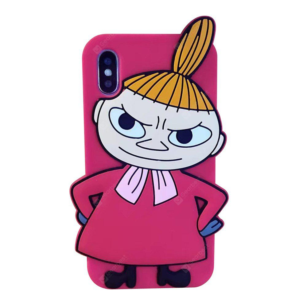 Pour iphone X 3D Cartoon Beautiful Girl Silicone Case