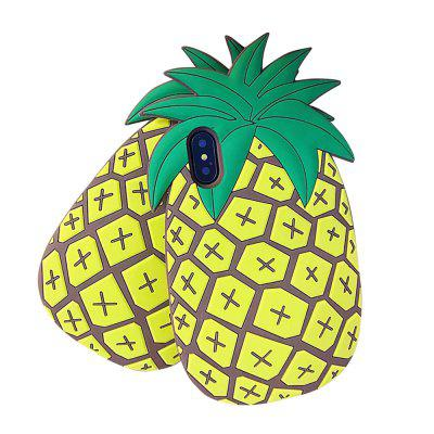 Pour iphone X 3D Cartoon ananas Silicone Case