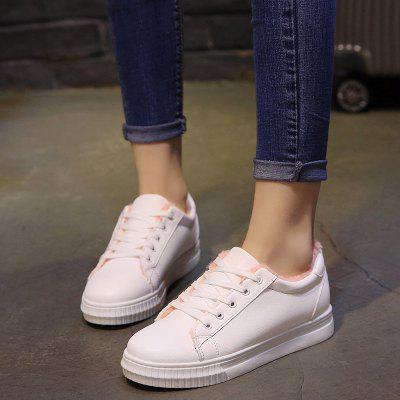 Warm Sports and Leisure ShoesWomens Sneakers<br>Warm Sports and Leisure Shoes<br><br>Available Size: 36.37.38.39.40<br>Closure Type: Lace-Up<br>Feature: Waterproof<br>Gender: For Women<br>Outsole Material: Rubber<br>Package Contents: 1 x shoes (pair)<br>Package size (L x W x H): 30.00 x 18.00 x 10.00 cm / 11.81 x 7.09 x 3.94 inches<br>Package weight: 0.3000 kg<br>Pattern Type: Solid<br>Season: Winter<br>Upper Material: PVC