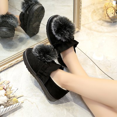 Warm and Comfortable Flat Bottom Antiskid ShoesWomens Casual Shoes<br>Warm and Comfortable Flat Bottom Antiskid Shoes<br><br>Available Size: 36.37.38.39.40<br>Closure Type: Elastic band<br>Embellishment: Appliques<br>Gender: For Women<br>Insole Material: Rubber<br>Outsole Material: Rubber<br>Package Contents: 1 x shoes (pair)<br>Pattern Type: Floral<br>Season: Winter<br>Toe Shape: Round Toe<br>Toe Style: Closed Toe<br>Upper Material: Flock<br>Weight: 1.0800kg