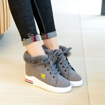 Lounge Shoes with Cotton and Cashmere Thick BottomWomens Casual Shoes<br>Lounge Shoes with Cotton and Cashmere Thick Bottom<br><br>Available Size: 35.36.37.38.39.40<br>Closure Type: Lace-Up<br>Embellishment: Fur<br>Gender: For Women<br>Outsole Material: Rubber<br>Package Contents: 1 x shoes (pair)<br>Pattern Type: Solid<br>Season: Winter<br>Toe Shape: Round Toe<br>Toe Style: Closed Toe<br>Upper Material: Flock<br>Weight: 1.0800kg