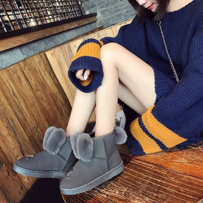 Rabbit Ears Hairy Warm Snow BootsWomens Boots<br>Rabbit Ears Hairy Warm Snow Boots<br><br>Boot Height: Ankle<br>Boot Type: Snow Boots<br>Closure Type: Slip-On<br>Gender: For Women<br>Heel Type: Flat Heel<br>Package Contents: 1 x shoes (pair)<br>Pattern Type: Patchwork<br>Season: Winter<br>Toe Shape: Round Toe<br>Upper Material: Flock<br>Weight: 1.0800kg
