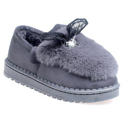 Plush Warm Short Butterfly Knot Female Snow Boots