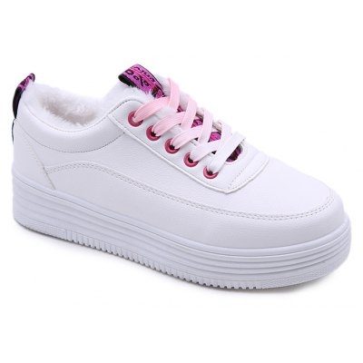 White Shoes Sports Shoes Warm