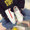 Leisure Sports Shoes Female White Shoes - RED
