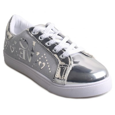 Lace Up Shoes Female Smooth Flat Shoes
