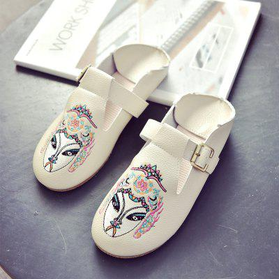 Chinese Wind Embroidered Flat Bottomed Single ShoesWomens Flats<br>Chinese Wind Embroidered Flat Bottomed Single Shoes<br><br>Available Size: 35.36.37.38.39<br>Closure Type: Buckle Strap<br>Flat Type: Mary Janes<br>Gender: For Women<br>Occasion: Casual<br>Package Contents: 1 x shoes (pair)<br>Package size (L x W x H): 30.00 x 18.00 x 10.00 cm / 11.81 x 7.09 x 3.94 inches<br>Package weight: 0.3000 kg<br>Pattern Type: Print<br>Season: Summer, Spring/Fall<br>Toe Shape: Round Toe<br>Toe Style: Closed Toe<br>Upper Material: PU