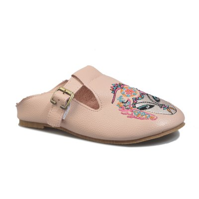 Chinese Wind Embroidered Flat Bottomed Single Shoes
