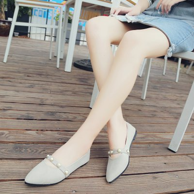 Sweet and Comfortable WomenS Single ShoesWomens Flats<br>Sweet and Comfortable WomenS Single Shoes<br><br>Available Size: 35.36.37.38.39.40<br>Closure Type: Slip-On<br>Flat Type: Ballet Flats<br>Gender: For Women<br>Occasion: Casual<br>Package Contents: 1 x shoes (pair)<br>Package size (L x W x H): 30.00 x 18.00 x 10.00 cm / 11.81 x 7.09 x 3.94 inches<br>Package weight: 0.3000 kg<br>Pattern Type: Others<br>Season: Summer, Winter, Spring/Fall<br>Toe Shape: Pointed Toe<br>Toe Style: Open Toe<br>Upper Material: Flock