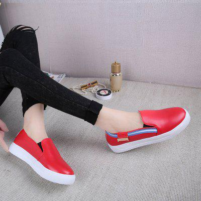 Comfortable Leisure Single ShoesWomens Casual Shoes<br>Comfortable Leisure Single Shoes<br><br>Available Size: 35.36.37.38.39.40<br>Closure Type: Slip-On<br>Embellishment: None<br>Gender: For Women<br>Outsole Material: Rubber<br>Package Contents: 1 x shoes (pair)<br>Pattern Type: Others<br>Season: Summer, Winter, Spring/Fall<br>Toe Shape: Round Toe<br>Toe Style: Closed Toe<br>Upper Material: PU<br>Weight: 1.0800kg