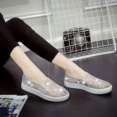 Ventilation Lace Fashion Casual ShoesWomens Flats<br>Ventilation Lace Fashion Casual Shoes<br><br>Available Size: 35.36.37.38.39.40<br>Closure Type: Slip-On<br>Flat Type: Mary Janes<br>Gender: For Women<br>Occasion: Casual<br>Package Contents: 1 x shoes (pair)<br>Package size (L x W x H): 30.00 x 18.00 x 10.00 cm / 11.81 x 7.09 x 3.94 inches<br>Package weight: 0.3000 kg<br>Pattern Type: Others<br>Season: Summer, Spring/Fall<br>Toe Shape: Round Toe<br>Toe Style: Closed Toe<br>Upper Material: Sequined Cloth