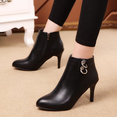 Fine Heel Boots Martin BootsWomens Boots<br>Fine Heel Boots Martin Boots<br><br>Boot Height: Ankle<br>Boot Type: Fashion Boots<br>Closure Type: Zip<br>Gender: For Women<br>Heel Type: Stiletto Heel<br>Package Contents: 1 x shoes (pair)<br>Pattern Type: Others<br>Season: Winter<br>Toe Shape: Pointed Toe<br>Upper Material: PU<br>Weight: 1.0800kg
