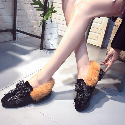 Rabbit Hair Soft Bottom Flat Shoes ComfortableWomens Flats<br>Rabbit Hair Soft Bottom Flat Shoes Comfortable<br><br>Available Size: 35.36.37.38.39<br>Closure Type: Slip-On<br>Flat Type: Mary Janes<br>Gender: For Women<br>Occasion: Casual<br>Package Contents: 1 x shoes (pair)<br>Package size (L x W x H): 30.00 x 18.00 x 10.00 cm / 11.81 x 7.09 x 3.94 inches<br>Package weight: 0.3000 kg<br>Pattern Type: Others<br>Season: Winter<br>Toe Shape: Round Toe<br>Toe Style: Closed Toe<br>Upper Material: Flock