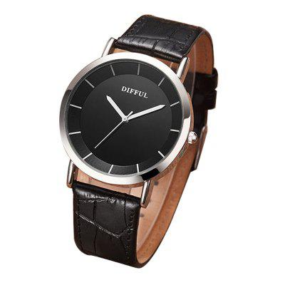 DIFFUL Brand Spot Wholesale Couple Watches Men and Women Leather on The Table