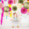 12pcs Tissue Paper Pom Pom Flowers Paper Lanterns for Wedding Birthday Party Decorations - MULTICOLOR