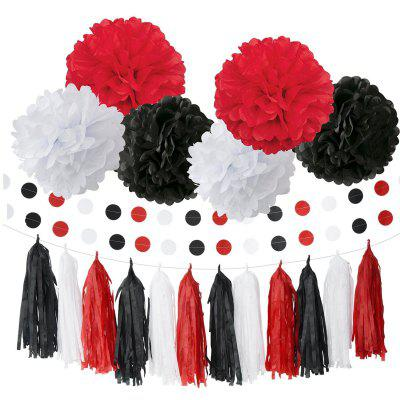 Baby Shower Decorations White Black Red Ladybug Birthday Party Decoration First Girl