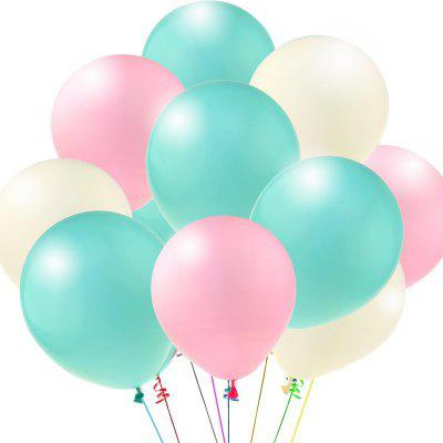 Pack of 100  12 Inch Aqua Blue Light Pink White Assorted Balloons Latex Matte Balloons Globos Party Birthday Wedding Balloons