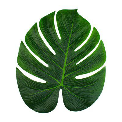 9pcs Tropical Palm Leaves 13-Inch Simulation Leaf for Hawaiian Luau Party Jungle Beach Theme Party Decorations