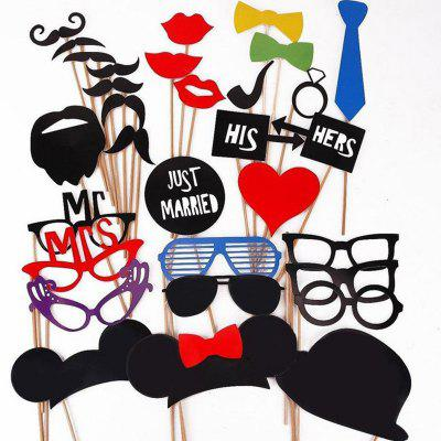 31PCS/Set DIY Wedding Birthday Party Cosplay Mask Photo Booth Props On A Stick