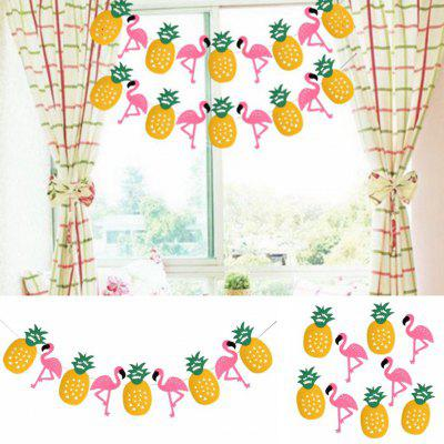 EASTERN HOPE Party Decorations Banner Pink Flamingo Pineapple for Luau Hawaiian Summer Party Supplies