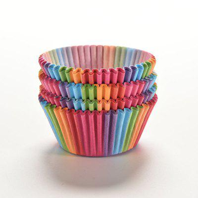 100 unids Colorido Arco Iris Pastel de Papel Cupcake Liners para hornear Muffin Cup Case Party Supplies