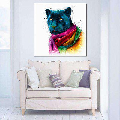 Abstract Canvas Print of Panther Frameless Wallart Decoration