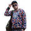 Round Neck Large Size New Young Leopard Head Printing  Men'S SweatshirtPCW70063C - COLORMIX