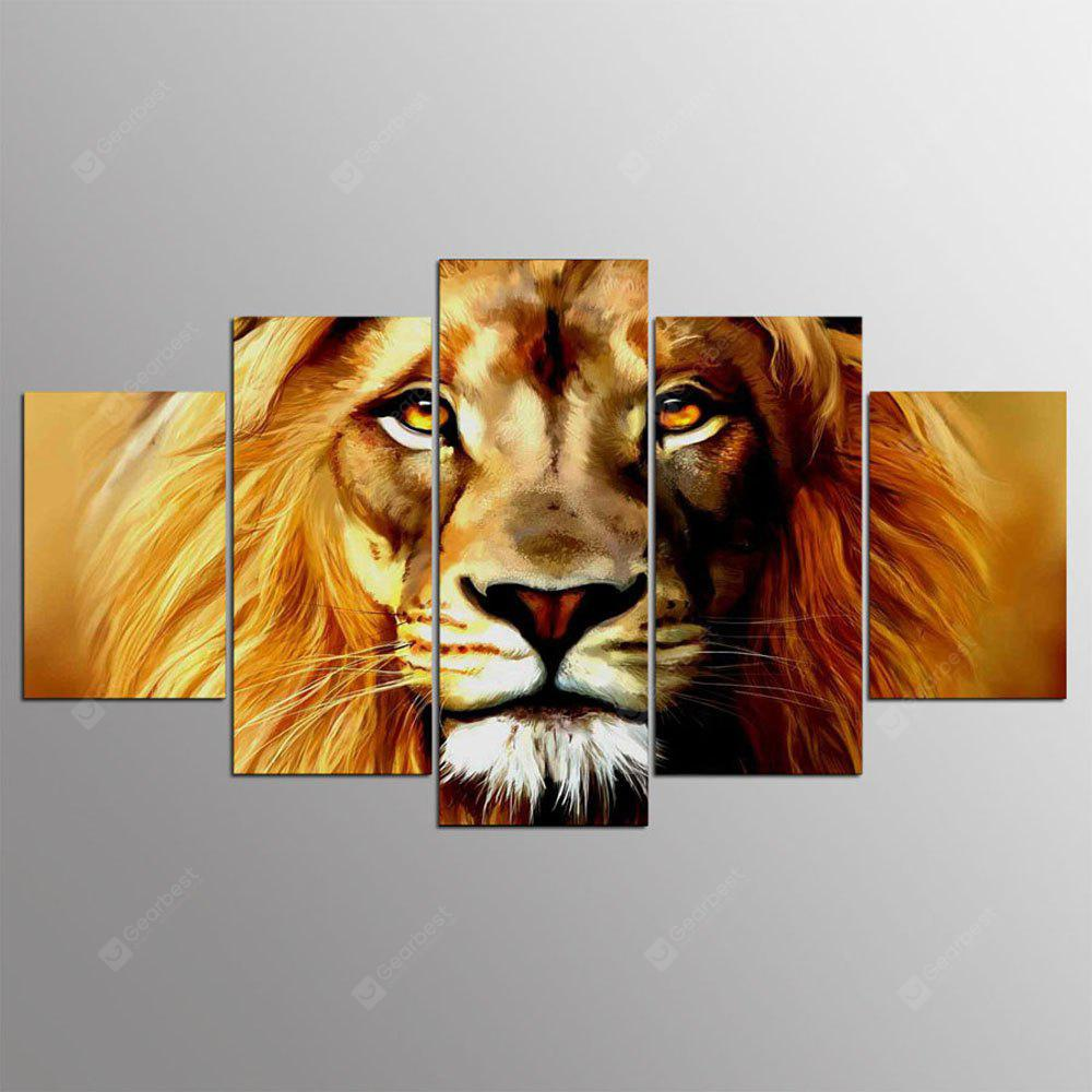 YSDAFEN 5 Panel Hd Modern Artful Lion Canvas Art for Living Room Wall Picture