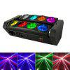Party Lighting 8 LEDs Moving Beam LED DJ Light for Decoration - BLACK