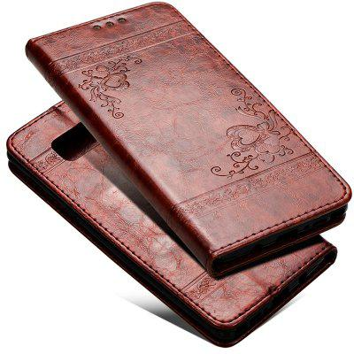 Cover Case for Samsung Galaxy Note 8 Pure Color Embossing Leather