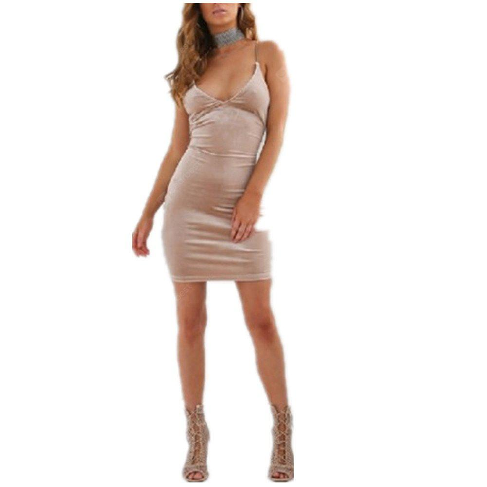 Fashion Sexy Halter Straps Dress