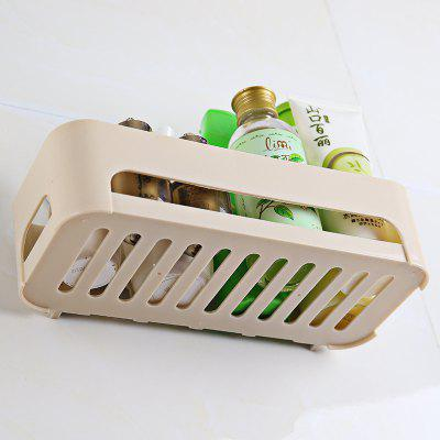 Storage Rack Multi Functional Bathroom Rectangle Soap Toothbrush Organizer