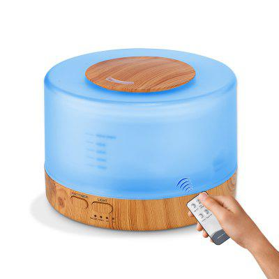 Buy GDAS 02467YK Remote Control Essential Oil Diffuser 500ML Ultrasonic Aroma Cool Mist Humidifier-Many countries Adapter LIGHT BROWN for $22.79 in GearBest store